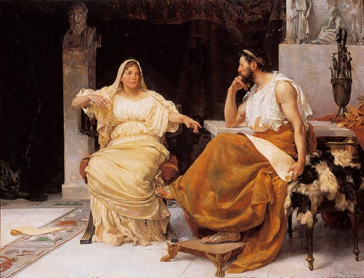 El Pedagogo (Aspasia y Pericles), 1893 - José Garnelo
