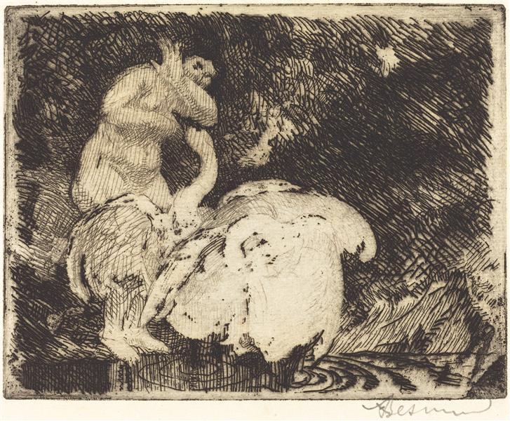 Leda Bathing (léda Au Bain), 1913 - Paul-Albert Besnard