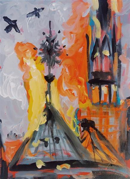 Notre Dame in Flames, 2019 - Emma Odette