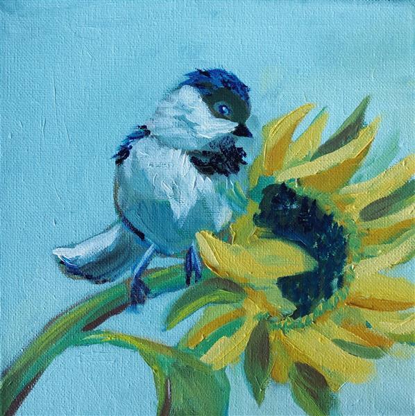 Bird with Sunflower, 2018 - Emma Odette