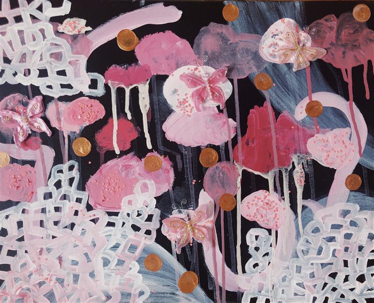 Gilded Butterflies, Dreading Dark I, 2018 - Emma Odette