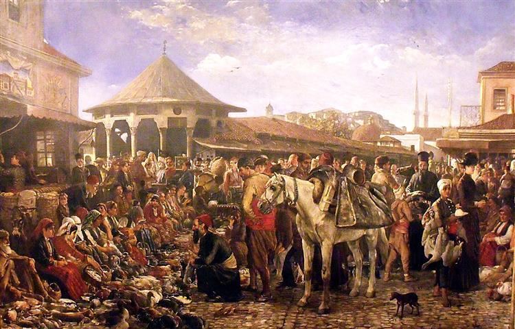 Marketplace in Plovdiv - Ivan Mrkviсka