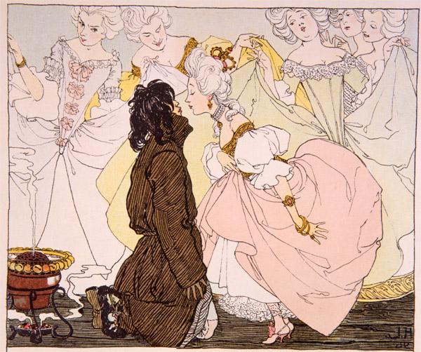 Die Prinzessin Und Der Schweinehirt, c.1897 - Heinrich Lefler