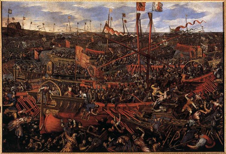 Battle of Salvore, c.1605 - Domenico Tintoretto