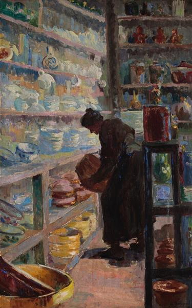 Covered market, 1912 - Hélène Guinepied