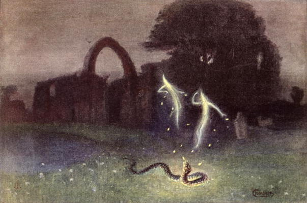 Will-o-the-wisp and Snake - Hermann Hendrich