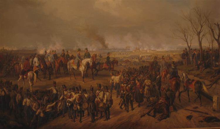 Radetzky in der Schlacht bei Novara - Albrecht Adam