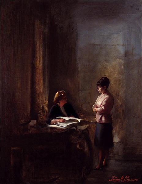 Anne and Italian Tutor, Rome, c.1966 - Frank Mason