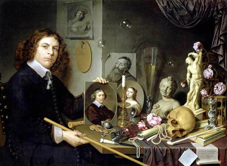 Self-portrait with Vanitas Symbols, 1651 - David Bailly