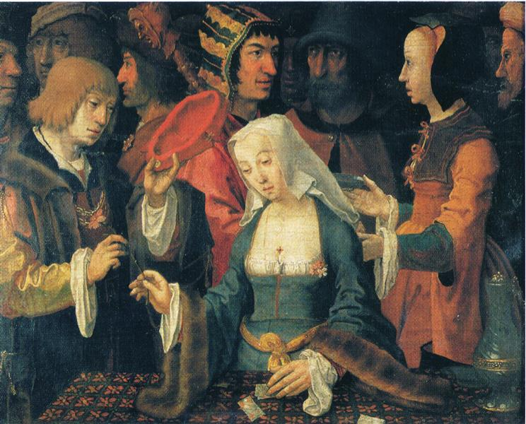 The Fortune-teller, 1510 - Лукас ван Лейден