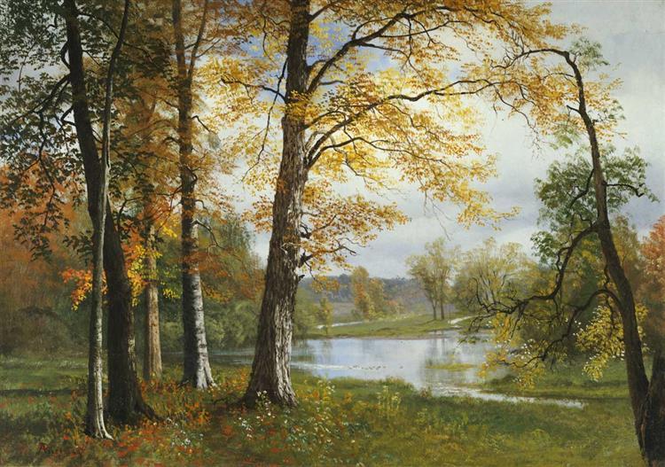 A Quiet Lake - Albert Bierstadt