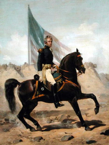 General Andrew Jackson at the Battle of New Orleans - Alonzo Chappel