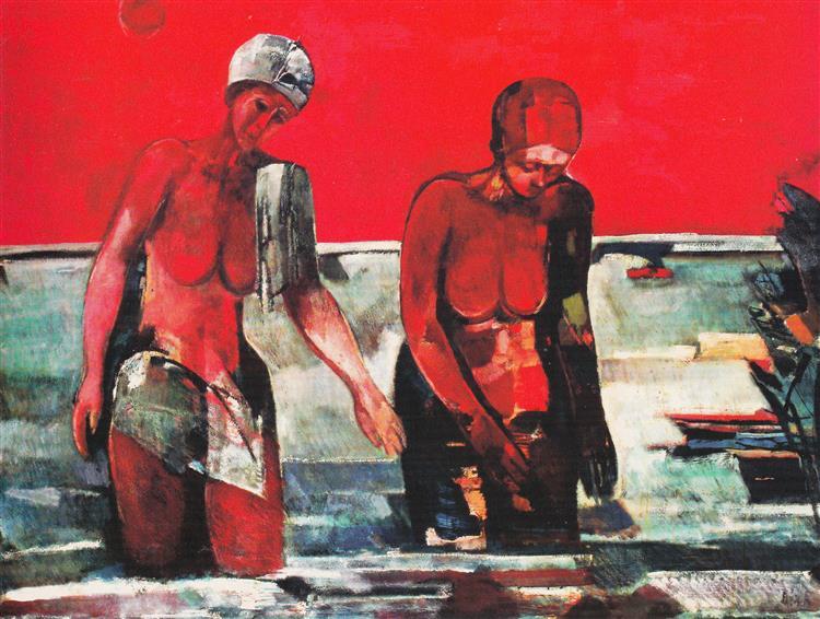 Bathers, 1983 - Rudolf Bér