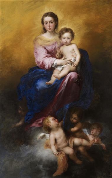 The Madonna of the Rosary, c.1680 - Bartolome Esteban Murillo