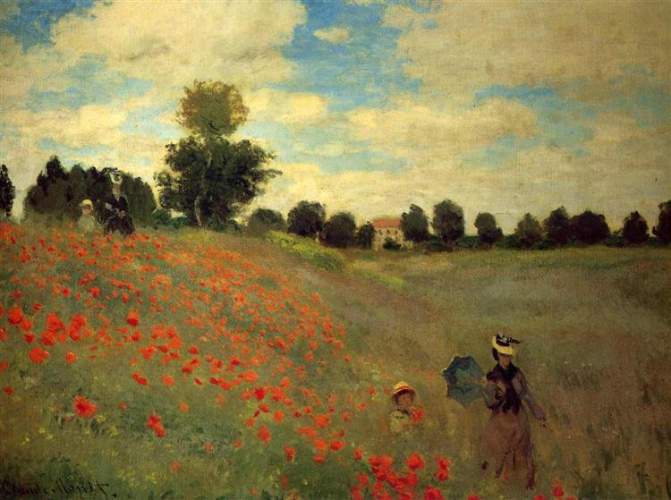 Field of Poppies, 1873 - Claude Monet