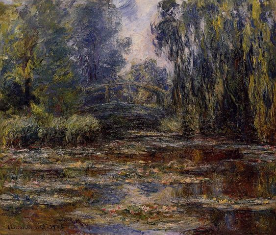 The Water Lily Pond and Bridge, 1905 - Claude Monet