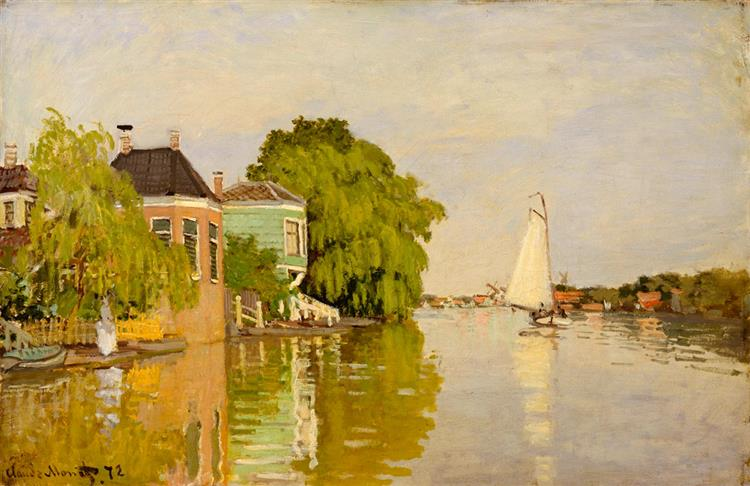 Houses on the Achterzaan, 1871 - Claude Monet