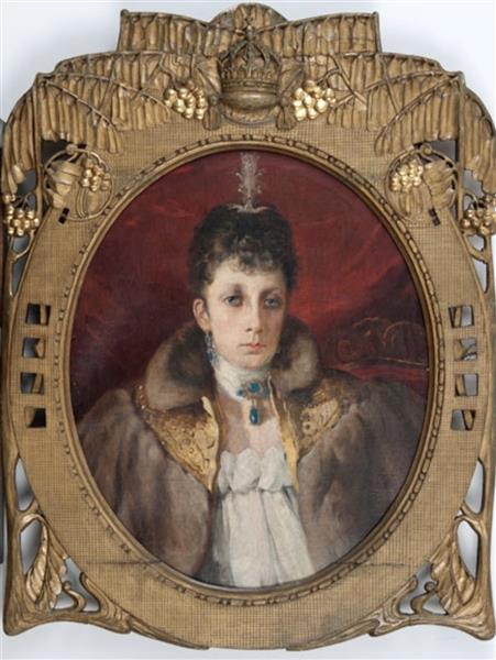 Portrait of Maria Louisa - Ivan Mrkviсka