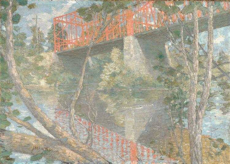 The Red Bridge, 1895 - Julian Alden Weir