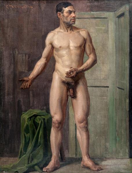 Naked male figure - study - Simeon Velkov
