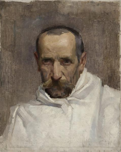 Portrait of a man with a white cloak - Simeon Velkov