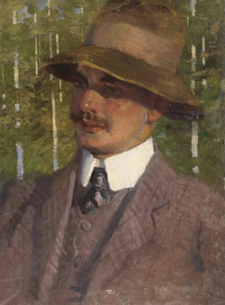 Portrait with birch trees - Simeon Velkov