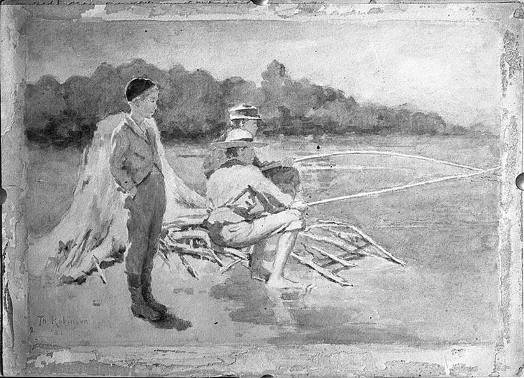 Children Fishing, c.1881 - Theodore Robinson