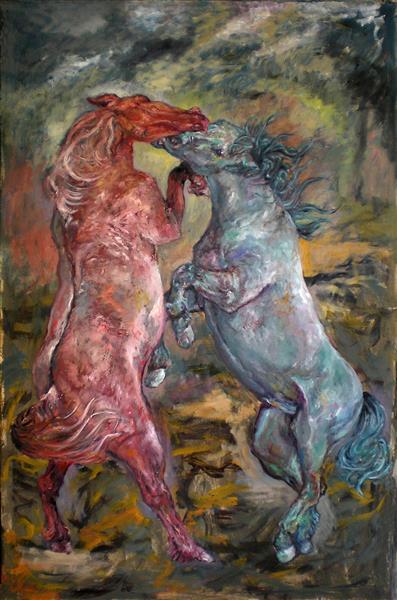 Red & Bleu Horses, 2010 - Carmen Delaco