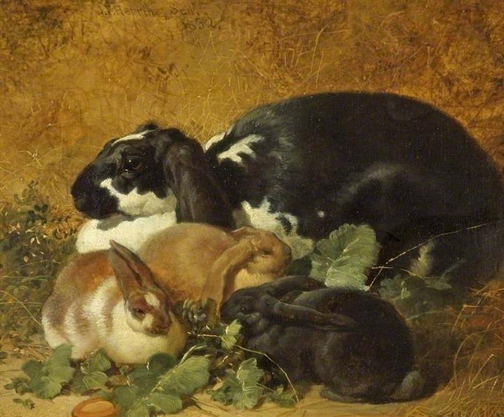 Rabbits, 1852 - John Frederick Herring Sr.