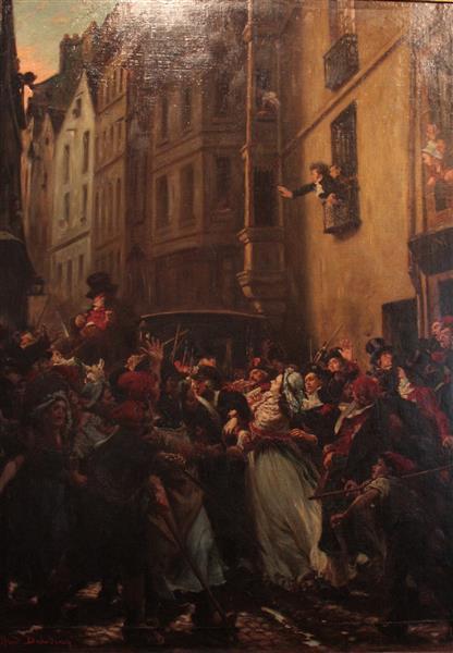 L'arrestation De Charlotte Corday Après Le Meurtre De Marat (13 Juillet 1793) - Alfred Dehodencq