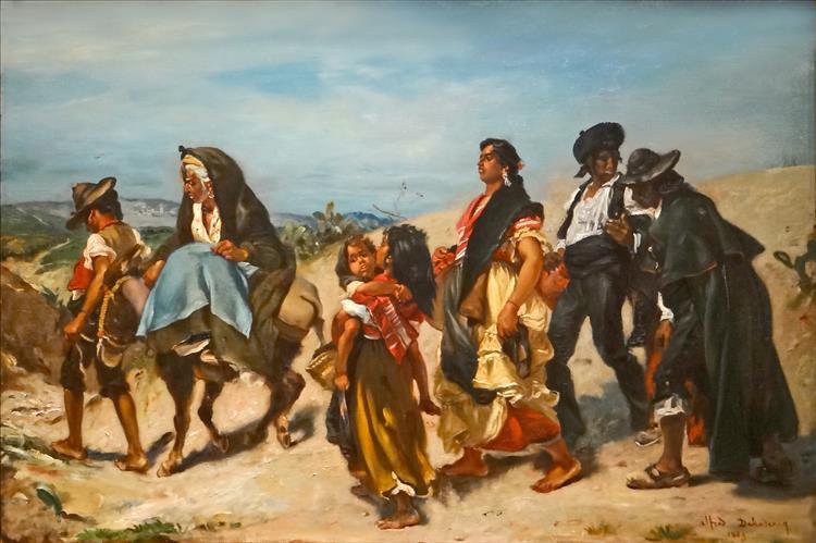 Bohémiens En Marche - Alfred Dehodencq