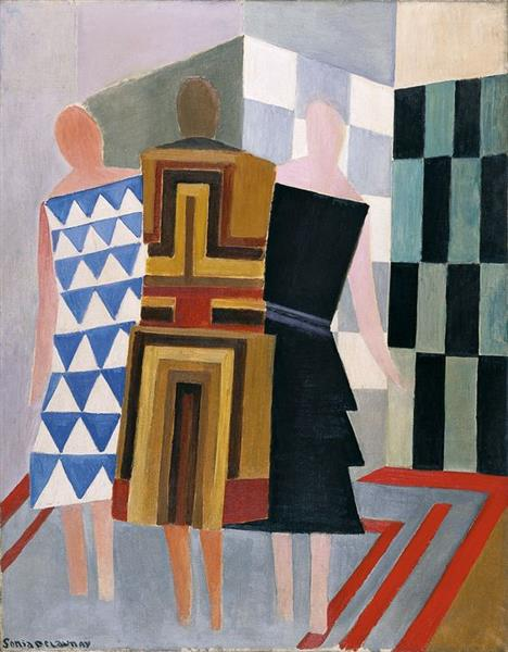 Simultaneous Dresses (Three Women, Forms, Colours), 1925 - Sonia Delaunay