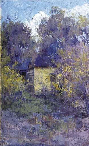Landscape with Cottage, c.1900 - Clara Southern
