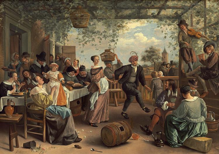Dancing couple, 1663 - Jan Steen