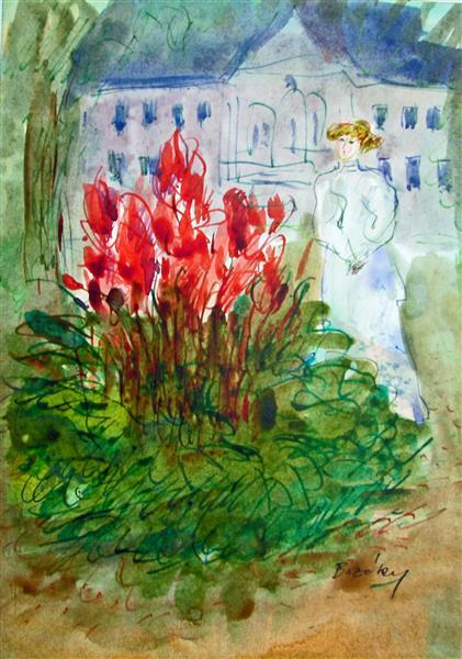 Proust: Duchesse de Guermantes in a Park, 1993 - Maria Bozoky