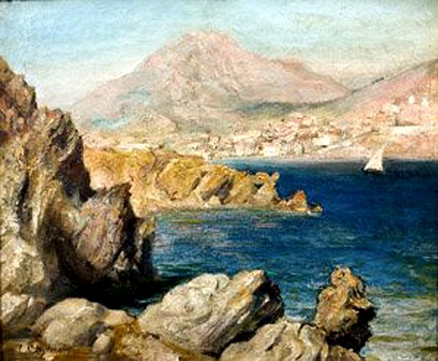 Mediterranean Paysage - Joseph-Noël Sylvestre