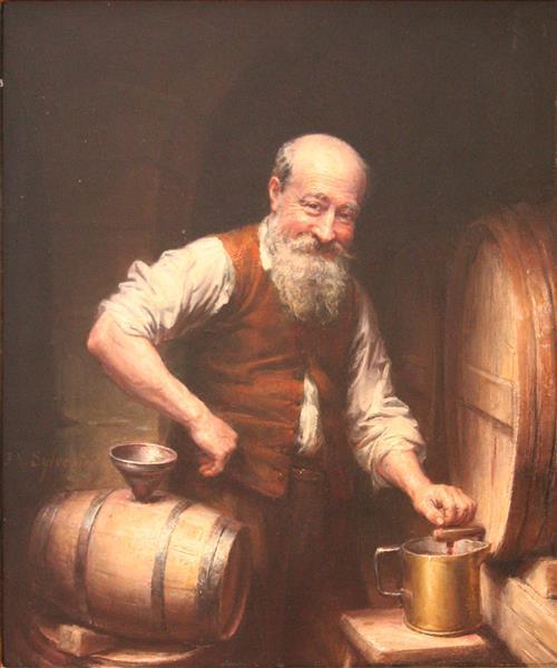 Winemaker in his cellar - Joseph-Noël Sylvestre