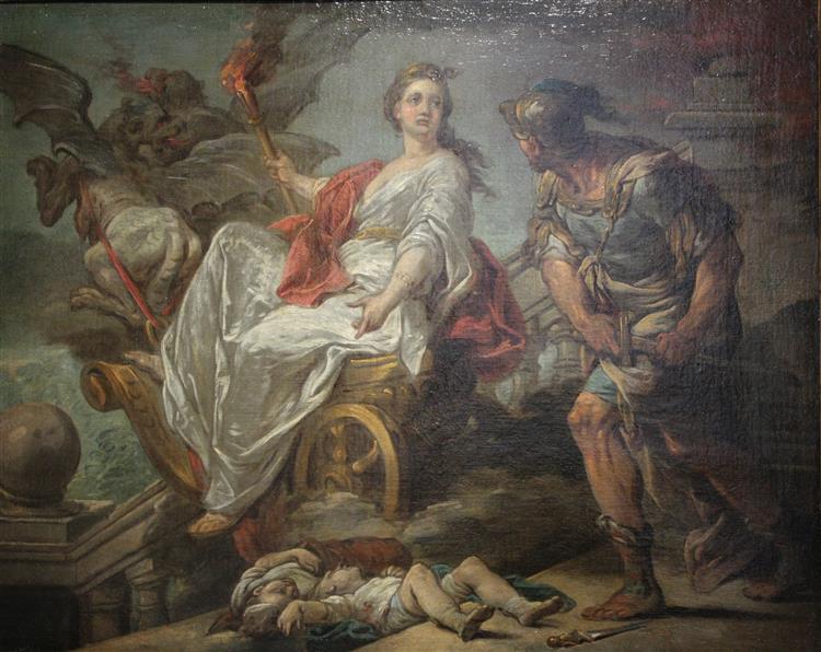 Jason and Medea, 1759 - Шарль Андре Ван Лоо