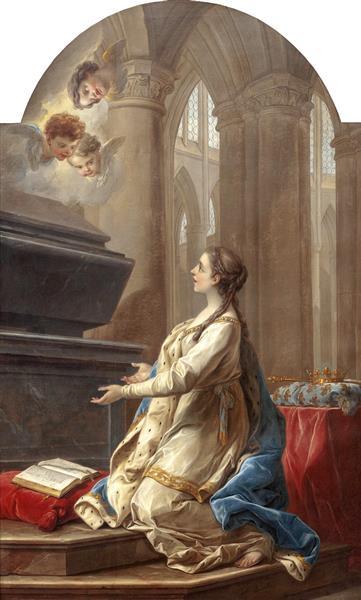 Saint Clotilde In Prayer At The Foot Of The Tomb Of Saint Martin, 1753 - Шарль Андре Ван Лоо