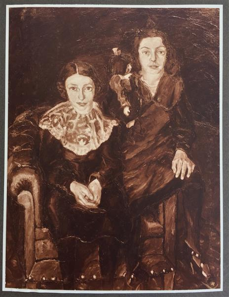 The Two Koppel Daughters, 1918 - Walter Gramatté