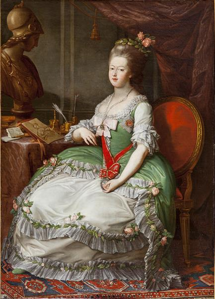 Portrait of Grand Duchess Maria Feodorovna, 1782 - Pompeo Batoni -  WikiArt.org