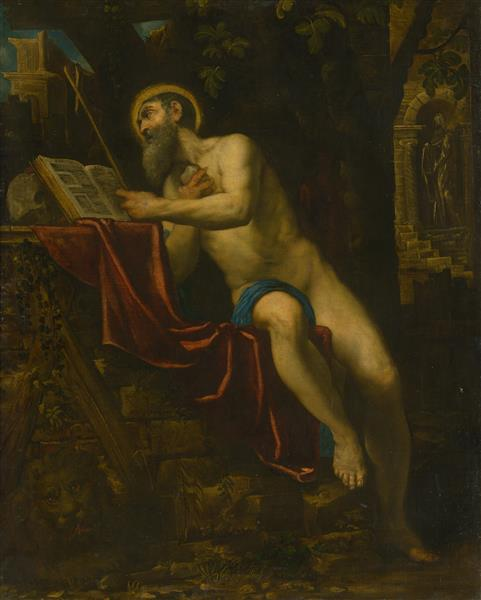 Saint Jerome - Domenico Tintoretto