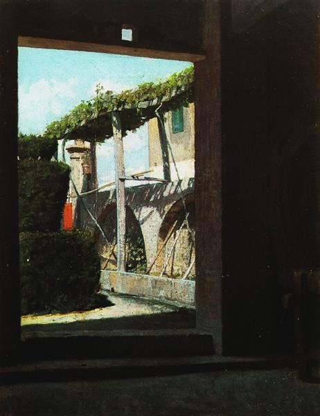 View from the Cellar of Diego Martelli - Giuseppe Abbati