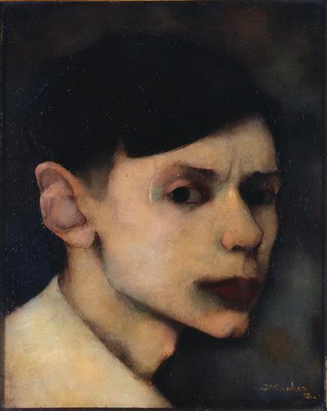 Self Portrait, 1912 - Jan Mankes