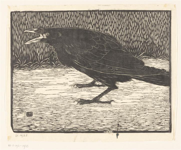 Screaming crow, 1918 - Jan Mankes