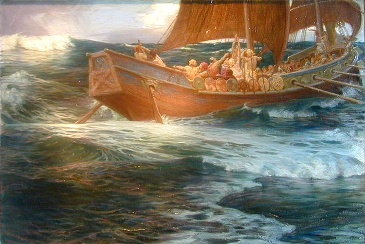Wrath of the Sea God, c.1900 - Herbert James Draper