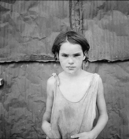 Damaged Child Shacktown Elm Grove Oklahoma 1936 Dorothea Lange Wikiart Org