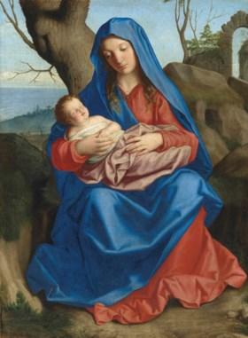 The Madonna and Child - Джованні Батіста Сальві