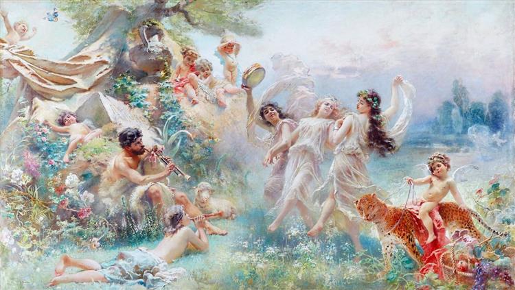 Happy Arcadia, 1889 - 1890 - Konstantin Makovsky