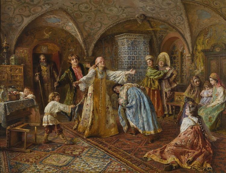 Hide and Seek, c.1890 - Konstantin Makovsky
